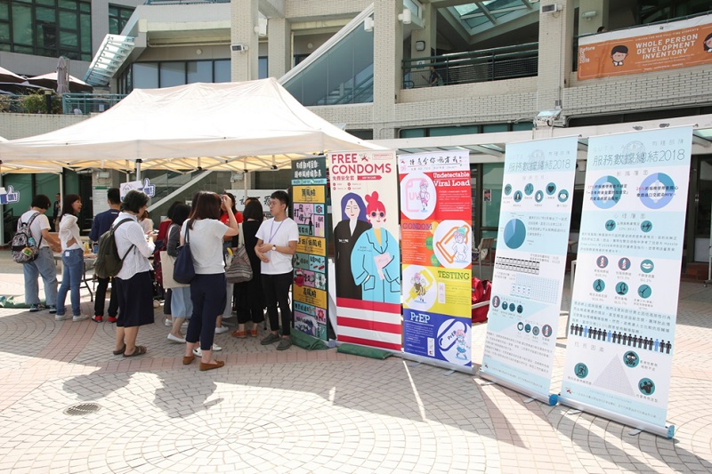 Service organizations/units set up exhibition booths
