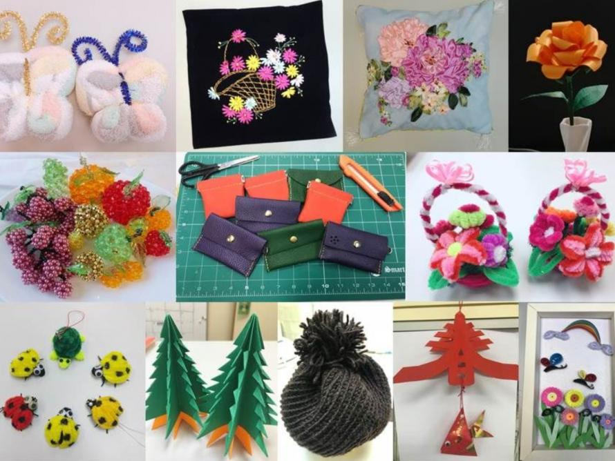 Handicraft Products by Volunteers and Students